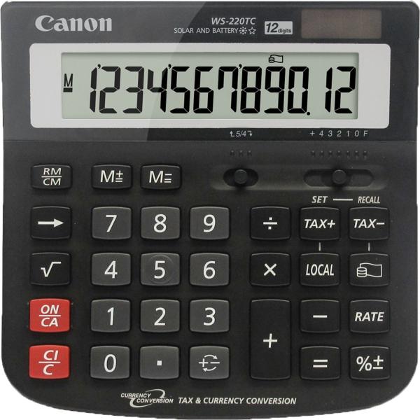 CANON 12 Digit Wide Desktop Calculator Dual WS220TC