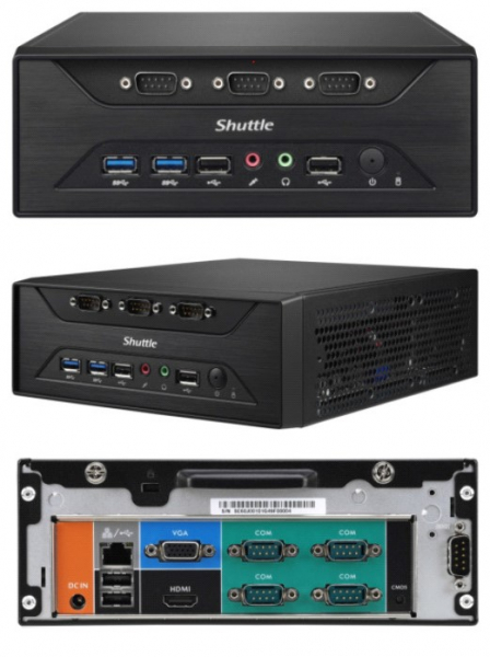 SHUTTLE Fanless 3l Pc - Celeron J3355 2x Ddr3l XC60J