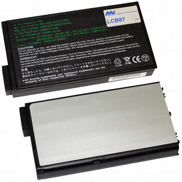 Mi Battery 14.4v 66wh / 4600mah Liion Laptop Battery Suit. For Hp Compaq (LCB87)