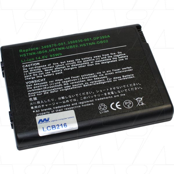 Mi Battery 14.8v 95wh / 6400mah Liion Laptop Battery Suit. For Hp Compaq (LCB216)