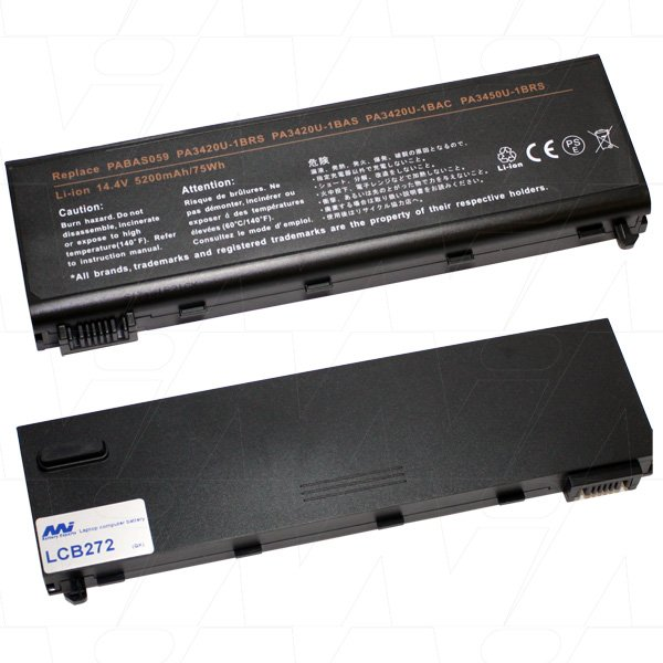Mi Battery Xperts 14.4v 75wh / 5200mah Liion Laptop Battery Suit. For Toshib (LCB272)