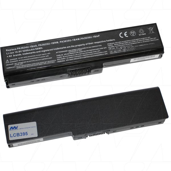 Mi Battery Xperts 10.8v 56wh / 5200mah Liion Laptop Battery Suit. For Toshib (LCB395)