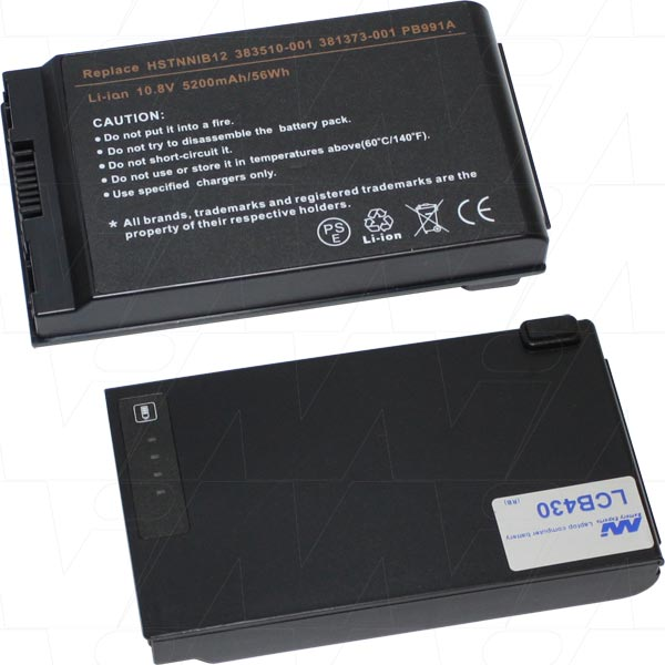 Mi Battery Xperts 10.8v 56wh / 5200mah Liion Laptop Battery Suit. For Hp-com (LCB430)