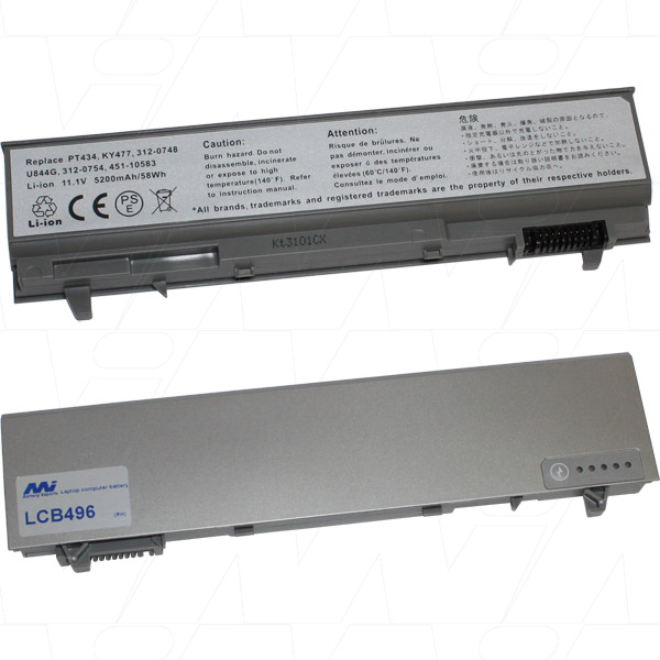 Mi Battery 11.1v 58wh / 5200mah Liion Laptop Battery Suit. For Dell (LCB496)
