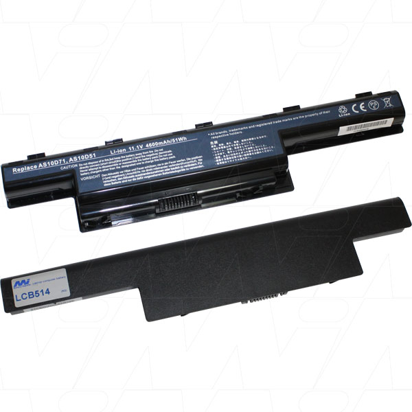 Mi Battery 11.1v 58wh / 5200mah Liion Laptop Battery Suit. For Acer Gateway (LCB514)