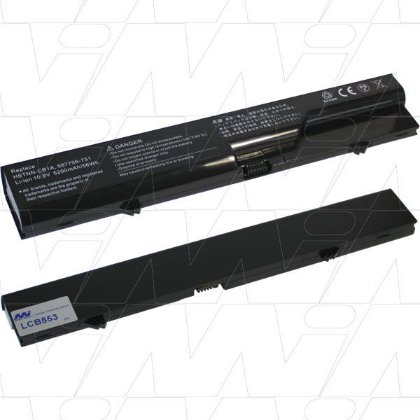 Mi Battery 10.8v 56wh / 5200mah Liion Laptop Battery Suit. For Compaq/hp (LCB553)