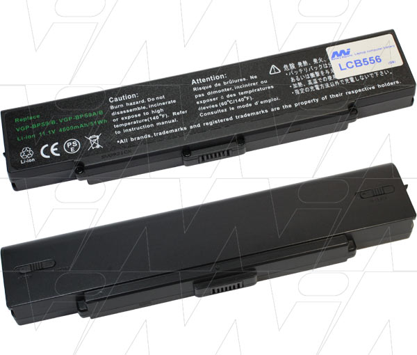 Mi Battery 11.1v 51wh / 4600mah Liion Laptop Battery Suit. For Sony (LCB556)