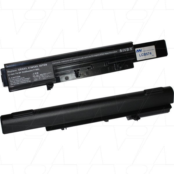 Mi Battery Xperts 14.8v 77wh / 5200mah Liion Laptop Battery Suit. For Dell (LCB574)
