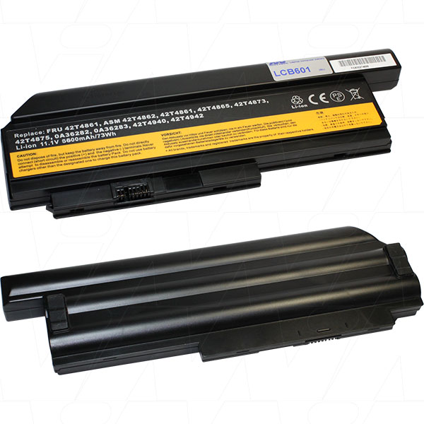 Mi Battery Xperts 11.1v 73wh / 6600mah Liion Laptop Battery Suit. For Lenovo (LCB601)
