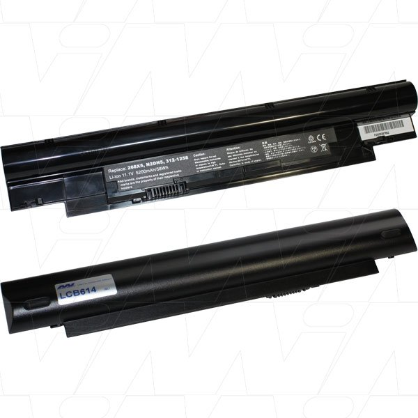 Mi Battery Xperts 11.1v 58 Wh / 5200mah Liion Laptop Battery Suit. For Dell (LCB614)