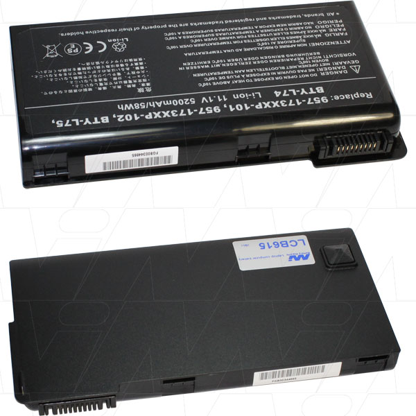 Mi Battery Xperts 11.1v 58 Wh / 5200 Mah Liion Laptop Battery Suit. For Msi (LCB615)