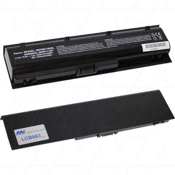 Mi Battery 10.8v 47.52wh / 4400mah Liion Laptop Battery Suit. For Hp (LCB663)