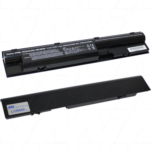 Mi Battery 10.8v 56.16wh / 5200mah Liion Laptop Battery Suit. For Hp (LCB665)