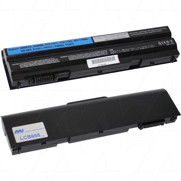 Mi Battery 11.1v 57.72wh / 5200mah Liion Laptop Battery Suit. For Dell (LCB668)