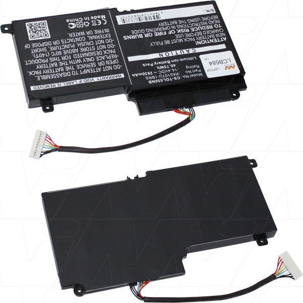 Mi Battery 14.4v 40.75wh / 2830mah Liion Laptop Battery Suit. For Toshiba (LCB684)