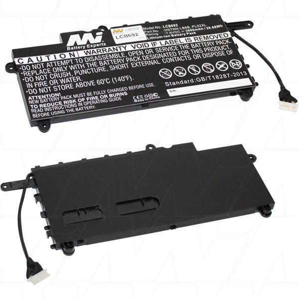 Mi Battery 7.6v 28.88wh / 3800mah Liion Laptop Battery Suit. For Hp (LCB692)