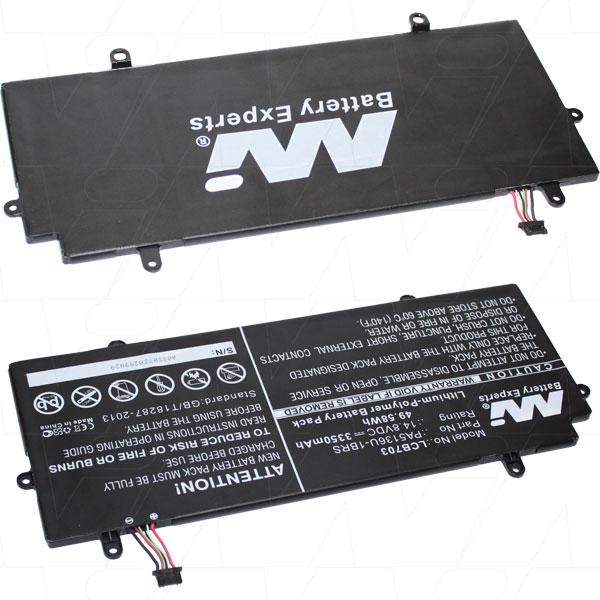 Mi Battery 14.8v 49.58wh / 3350mah Lipo Laptop Battery Suit. For Toshiba (LCB703)