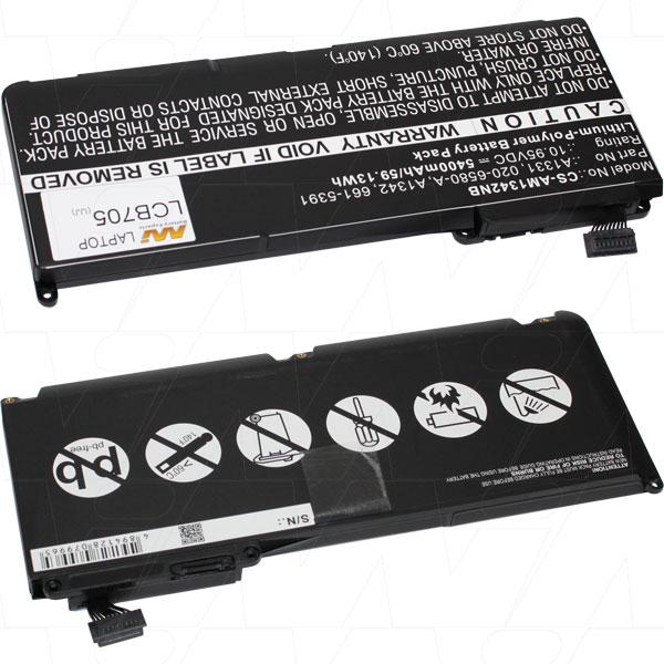 Mi Battery 10.95v 59.13wh / 5400mah Lipo Laptop Battery Suit. For Apple (LCB705)