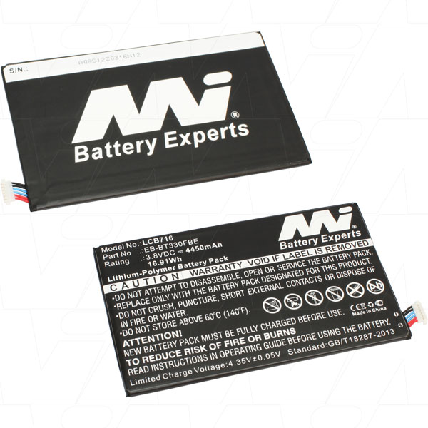 Mi Battery 3.8v 16.91wh / 4450mah Lipo Laptop Battery Suit. For Samsung (LCB716)