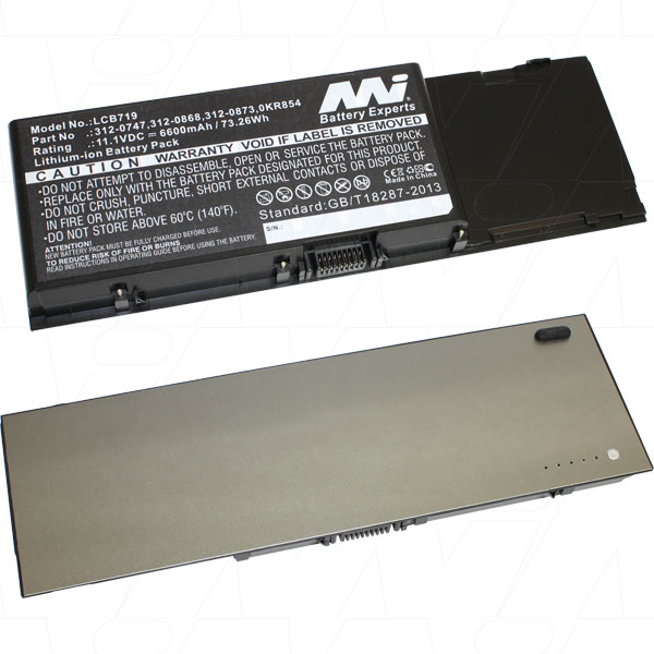 Mi Battery 11.1v 73.26wh / 6600mah Liion Laptop Battery Suit. For Dell (LCB719)