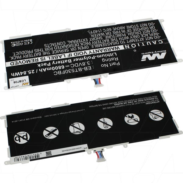 Mi Battery 3.8v 25.84wh / 6800mah Lipo Laptop Battery Suit. For Samsung (LCB726)