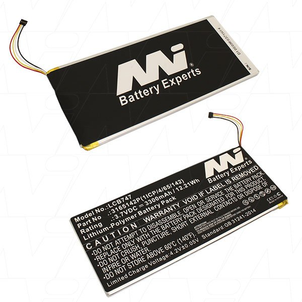 Mi Battery 3.7v 12.21wh / 3300mah Lipo Laptop Battery Suit. For Acer (LCB747)