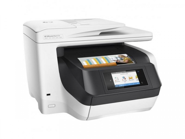 Hp Officejet Pro 8730 All-in-one Printer Wireless Print Fax Scan And (D9L20A)