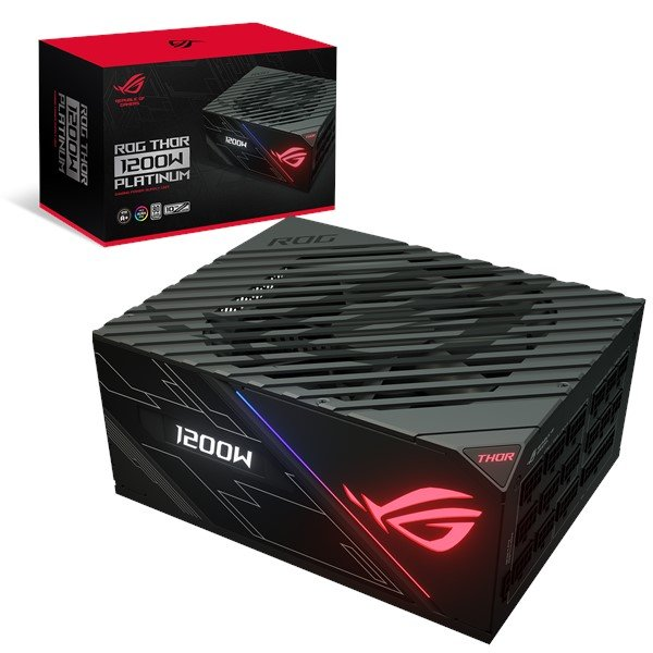 Asus 1200W Platinum Power Supply Unit stands out with Aura Sync and an OLED Display PSU (ROG-THOR-1200P)