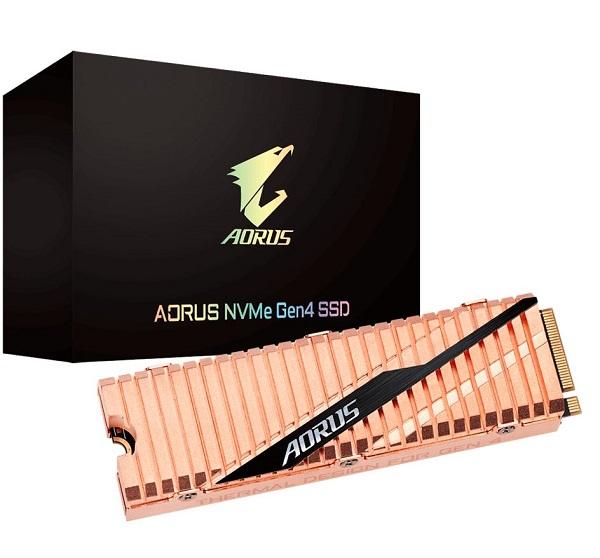 Gigabyte Aorus M.2 Pcie Nvme Gen4 SSD 1TB - 3d Nand Tlc 5000/4400 MB/s 750 (GP-ASM2NE6100TTTD)