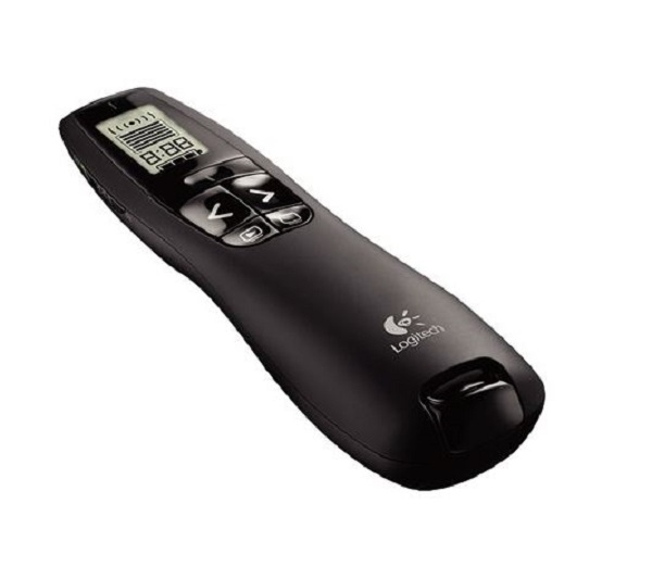 Logitech R800 Laser Presentation Remote Lcd Display Time Tracking 30m Rang 910-001358