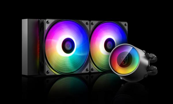 Deepcool Deepcool Castle 240rgb Cpu Liquid Cooler V2 dp-gs-h12ar-csl240v2 CASTLE 240RGB V2