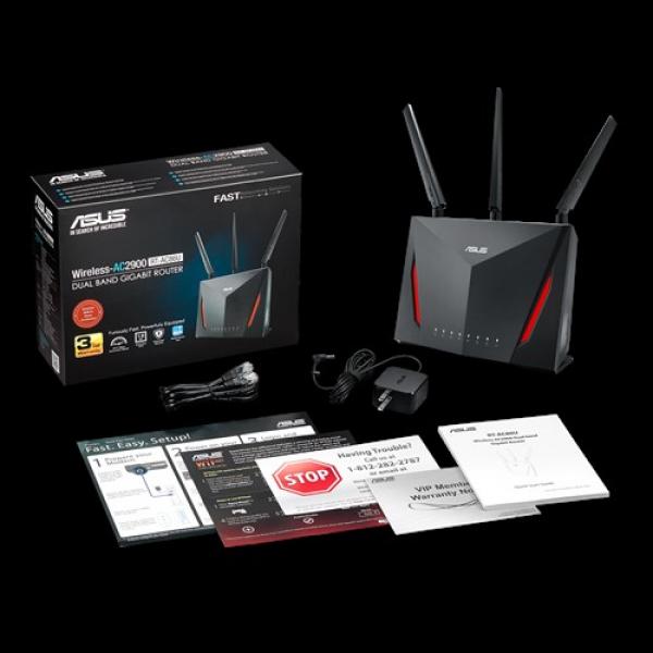 Asus AC2900 Dual Band Gigabit Wifi Gaming Router With Mu-Mimo Aimesh A (RT-AC86U)
