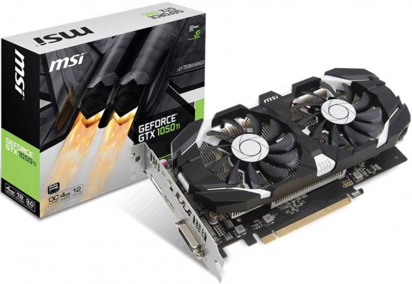 Msi Nvidia Gtx 1050 Ti 4gt Oc V1 4gb Video Card - Gddr5 Dp/hdmi/dvi 1 GTX 1050 TI 4GT OCV1