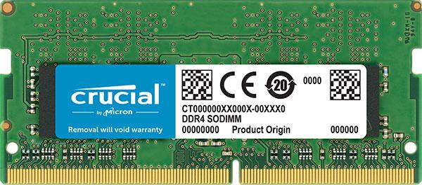 Micron Crucial 8gb (1x8gb) Ddr4 Sodimm 2666mhz Cl19 Single Stick Noteboo (CT8G4SFS8266)