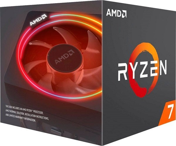 Amd Ryzen 7 3700x 8 Core Am4 Cpu 3.6ghz 4mb 65w W/wraith Prism Cooler (100-100000071BOX)