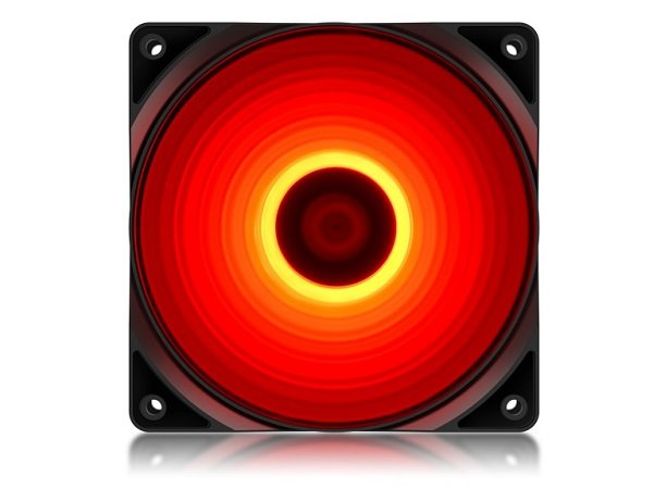 Deepcool Deepcool High Brightness Case Fan With Built-in Red Led (dp-fled- (RF120R)