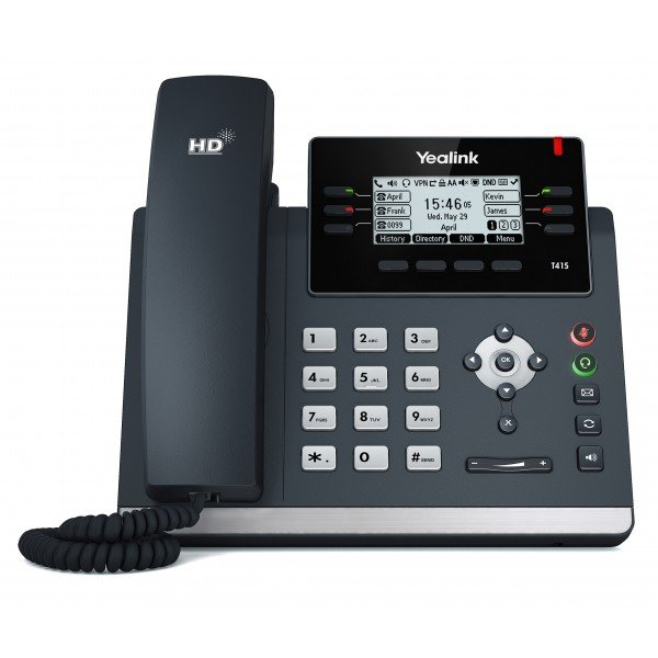 Yealink T41s 6 Line Ip Phone 2.7192x64 Pixel Graphical Lcd With Backligh (SIP-T41S)