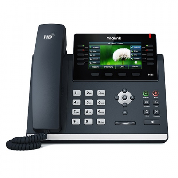 Yealink T46s 16 Line Ip Phone 4.3 480x272 Pixel Colour Display With Back (SIP-T46S)