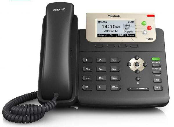Yealink T23g 3 Line Ip Phone 132x64 Lcd Dual Gigabit Ports Poe/hdv. No Po (SIP-T23G)