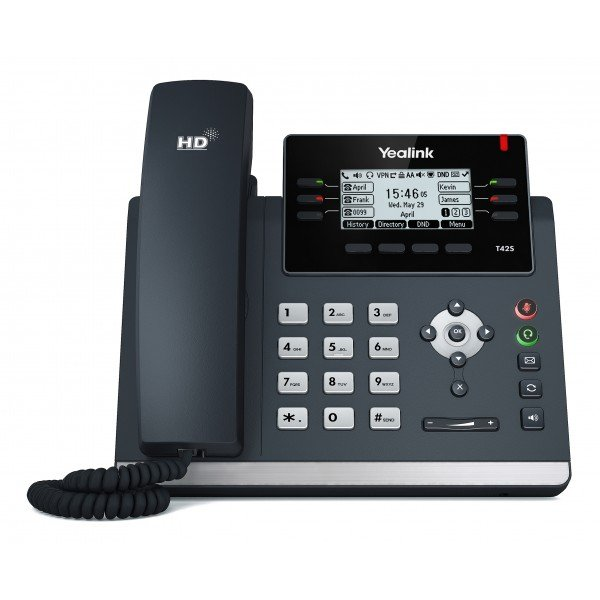Yealink T42s 12 Line Ip Phone 2.7192x64 Pixel Graphical Lcd With Backlig (SIP-T42S)