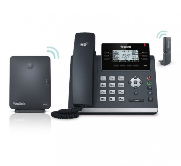 Yealink W41p Dect Desk Phone W41p Is A Package Of T41s W60b And Dect Dong (SIP-W41P)