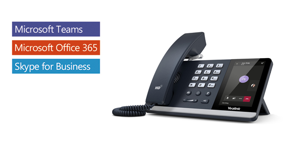 Yealink T55a -teams Edition Ip Phone 4.3 Screen Hd Voice Usb Dual Gigabi (TEAMS-T55A)