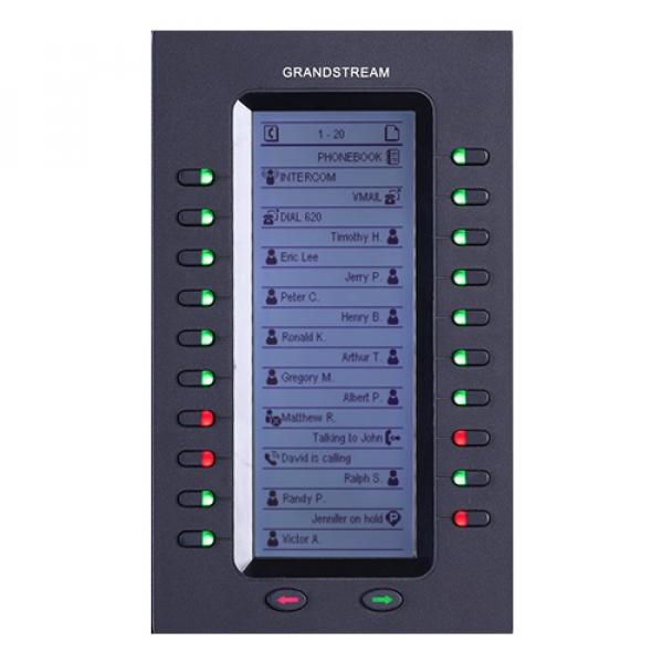 Grandstream 20 Key Expansion Module 128x384 Lcd For Gxp2140 Gxp2170 & Gxv3240 (GXP2200EXT)