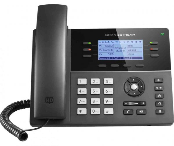 Grandstream Wifi 6-line Hd Ip Phone W/ Poe + Gigabit (GXP1760W)