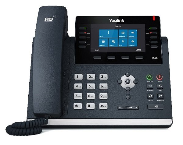 Yealink T46s (skype For Business Edition) 16 Line Ip Phone 4.3' 480x272 P (SIP-T46S-SFB)