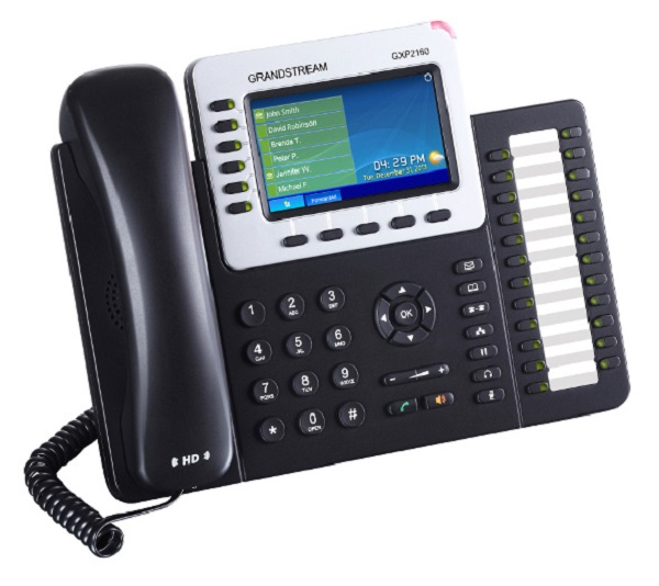 Grandstream Hd Poe Ip Phone 480x272 Colour Lcd 6 Lines Dual Gbe 5 Program Key (GXP2160)