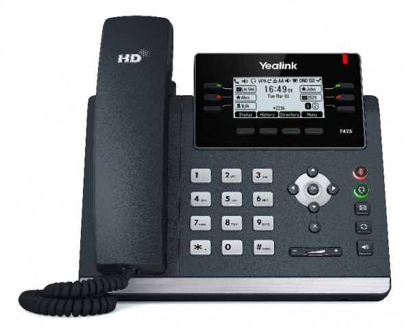 Yealink T42s (skype For Business Edition) 12 Line Ip Phone 2.7'192x64 Pix (SIP-T42S-SFB)