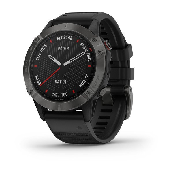 Garmin Fenix 6 Sapphire Carbon Gray Dlc With Black Band (010-02158-12)