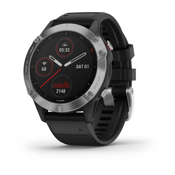 Garmin Fenix 6 Silver With Black Band (010-02158-00)