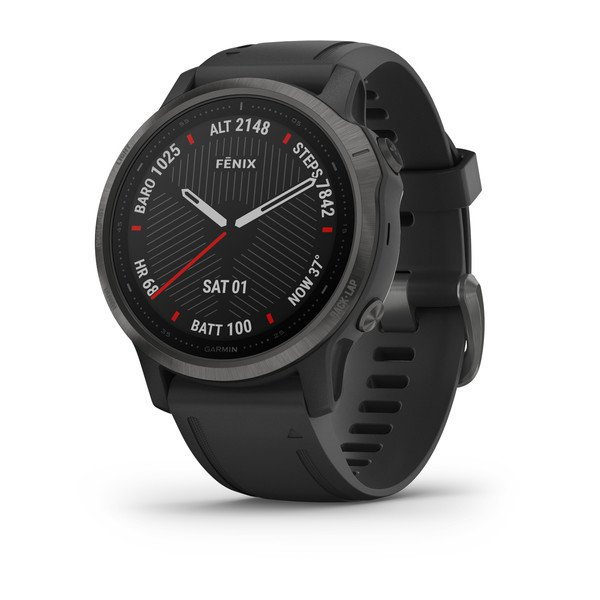 Garmin Fenix 6s Sapphire Carbon Gray Dlc With Black Band (010-02159-26)